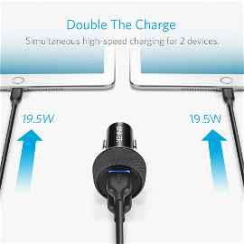 Anker PowerDrive Speed 2 - Adaptador de corriente para el coche - 39 vatios