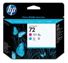 HP 72 - Cián, magenta - cabezal de impresión - para DesignJet HD Pro MFP, SD Pro MFP, T1100, T1120, T1200, T1300, T2300, T770, T790, T795