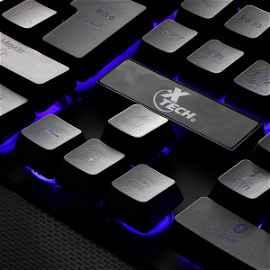 Armiger | Teclado multimedia cableado para videojuegos con iluminación de fondo multicolor