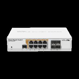 MikroTik Cloud Router Switch CRS112-8P-4S-IN - Conmutador - L3 - Gestionado - 18 x 10/100/1000 (PoE) + 4 x SFP - sobremesa, montaje en rack - PoE+ - alimentación de CC