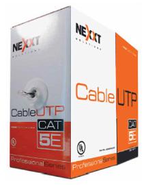 Nexxt - Par trenzado sin blindar UTP Cat5e - 305 m - Negro