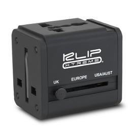 Klip Xtreme - Adaptador universal para viajes  - Dos puertos USB